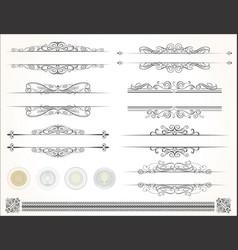 decorative design calligraphy elements vector image