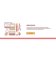 Design Web Work Space Flat vector