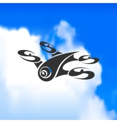 Drone logo against a beautiful sky vector image