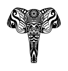 elephant head entangle with beautiful ornament vector image