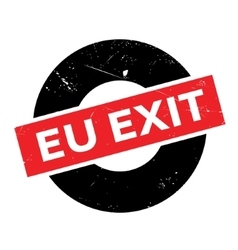 EU Exit rubber stamp vector