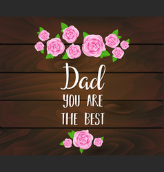 Fathers day greeting card with abstract pink vector