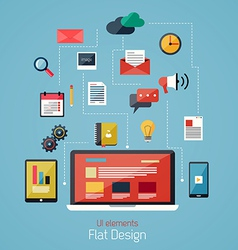 flat icons 2 vector image