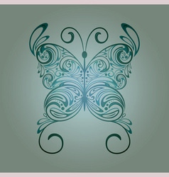 Floral vintage butterfly vector