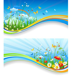 fun summer banners vector image