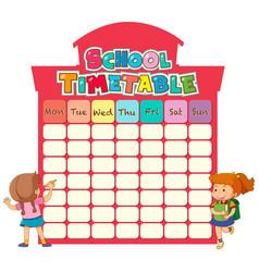 Gf ii backtoschool timetable 05 vector