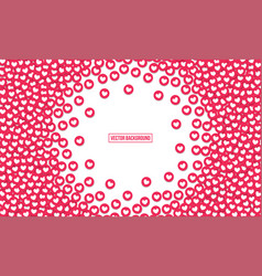 heart like icons background vector image