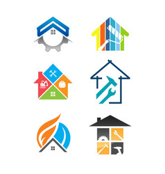house renovation service icon vector image