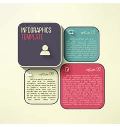 infographic boards in modern flat design vector image
