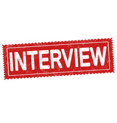 interview grunge rubber stamp vector image