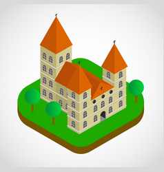 isometric church building vector image