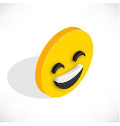 isometric smile icon vector image