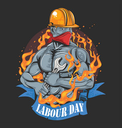 labour day ok vector image