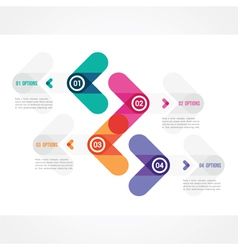 Modern design of a template in minimalist style vector