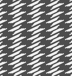 Monochrome pattern with white offset stripes vector