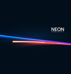 Motion striped light effect with fluid color vector