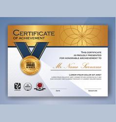 Multipurpose professional certificate template vector