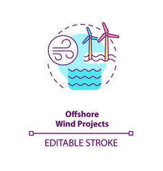 offshore wind projects concept icon vector image