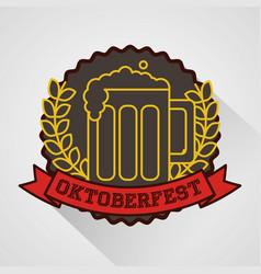 oktoberfest germany celebration vector image