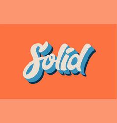 Orange blue white solid hand written word text vector