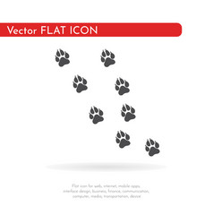 Paw prints pattern vector