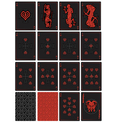 playing cards fantasy vector image