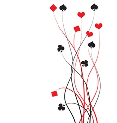 poker bridge - card game vector image