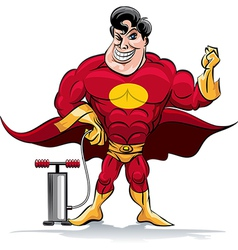 Pumping superhero vector image