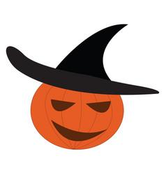 Pumpkin halloween decoration or color vector