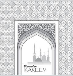 Ramadan holiday background muslim architectural vector