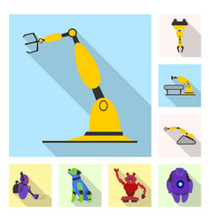 robot and factory logo vector image