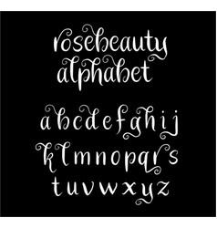Rosebeauty alphabet typography vector