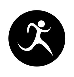 Runner athlete silhouette icon vector