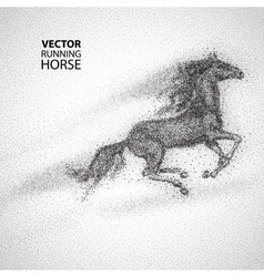 Running horse particles design vector image