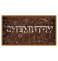School board doodle with chemistry symbols vector image