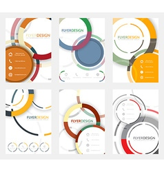Set of flyer design with circular pattern vector image
