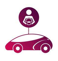 smart or intelligent car driver autonomous vector image