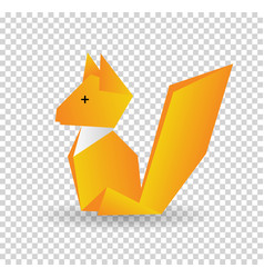 squirrel colored origami style icon element of vector image