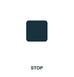 stop icon line style icon design ui vector image
