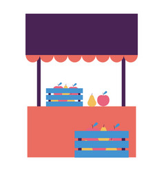 street commerce booth fruits vector image
