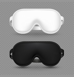 White and black realistic sleeping mask vector