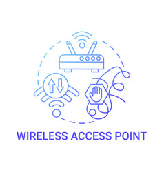 Wireless access point gradient blue concept icon vector