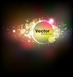 Abstract colorful night vector image vector image