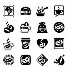 Coffe icon set vector image
