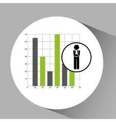 concept stock exchange market graphics growth icon vector image