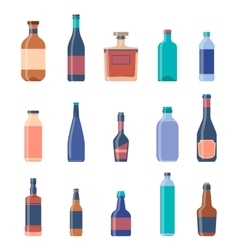 Different bottles collections Beer vintage vector image