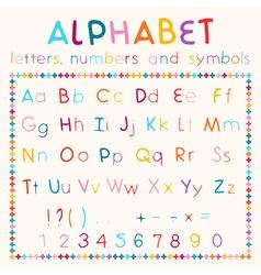 Latin alphabet isolated on white background vector image