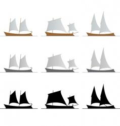 nine ships vector image