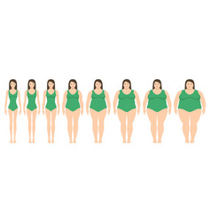 women of different weight vector image vector image