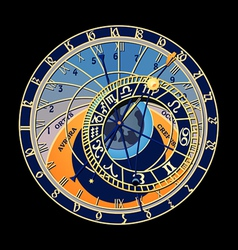 Astronomical clock vector image vector image